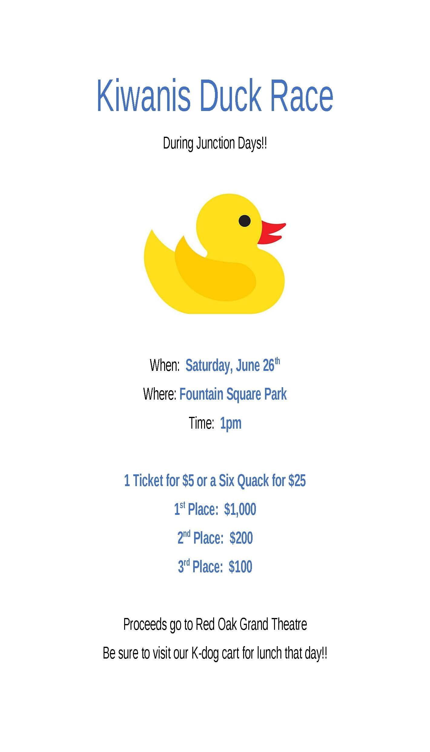 Kiwanis Duck Race
